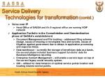 service delivery technologies for transformation contd1