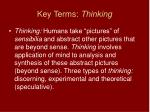 key terms thinking