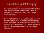 refutation of philosophy