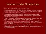 women under sharia law