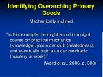 identifying overarching primary goods