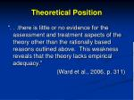 theoretical position1