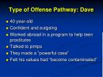type of offense pathway dave