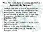 what was the nature of the exploitation of indians in the americas