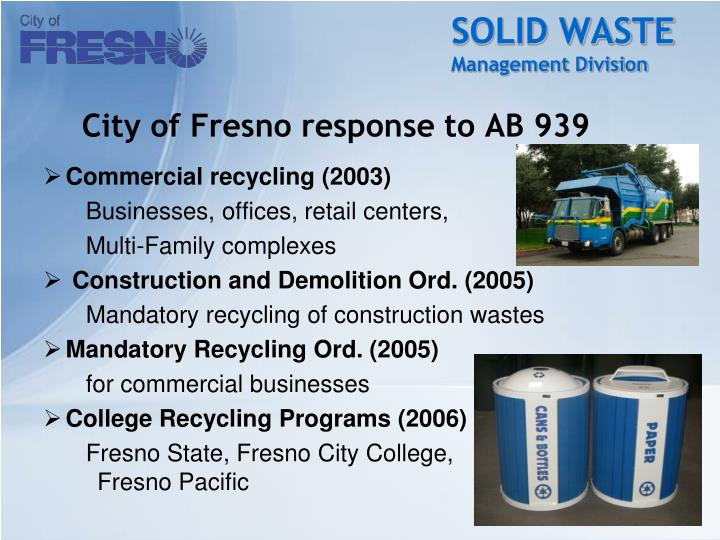 cleanliness recycling and solid waste management Waste management or waste disposal are all encompassing guidance on recycling waste can both solid waste management and solid residue from waste.