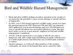 bird and wildlife hazard management