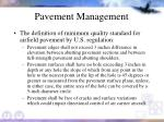 pavement management