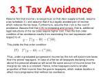 3 1 tax avoidance