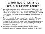 taxation economics short account of seventh lecture