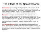 the effects of tax noncompliance