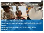 wash water sanitation and hygiene