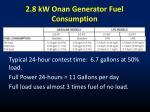 2 8 kw onan generator fuel consumption