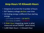 amp hours vs kilowatt hours