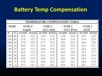 battery temp compensation