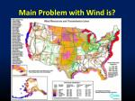 main problem with wind is