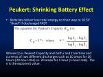 peukert shrinking battery effect