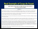 real example of coup de fouet