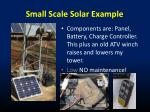 small scale solar example