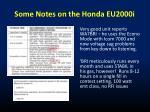 some notes on the honda eu2000i