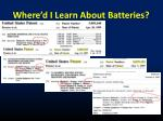where d i learn about batteries