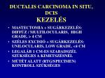 ductalis carcinoma in situ dcis kezel s