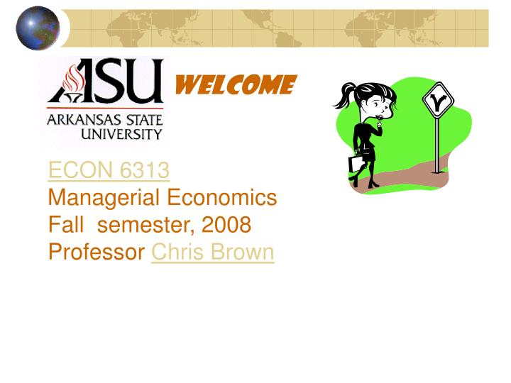 welcome to managerial economics iy2545 autumn