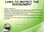 laws to protect the enviroment
