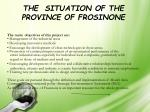 the situation of the province of frosinone1