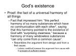 god s existence