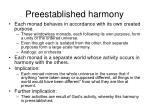 preestablished harmony
