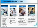 vital signs overview fy 2006
