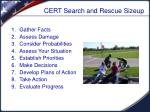 cert search and rescue sizeup