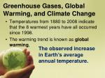 greenhouse gases global warming and climate change1