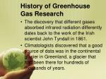 history of greenhouse gas research