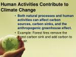 human activities contribute to climate change