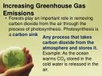 increasing greenhouse gas emissions