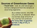 sources of greenhouse gases1