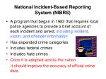 national incident based reporting system nibrs