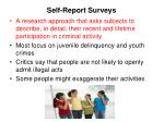 self report surveys