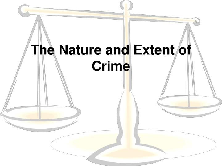 the nature and extent of crime n.