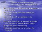 elements of consumer products that made them vulnerable to theft