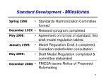 standard development milestones