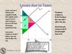 losses due to taxes