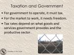 taxation and government