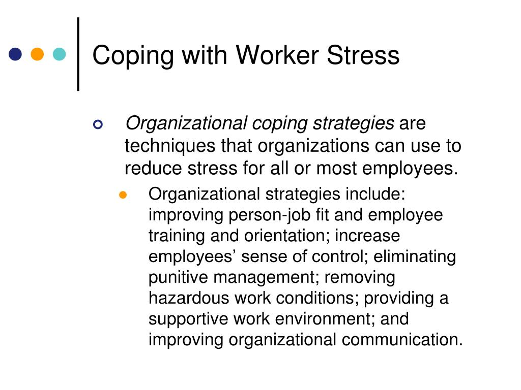 PPT - CHAPTER 9 Worker Stress and Negative Employee