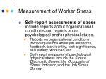 measurement of worker stress1