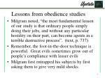 lessons from obedience studies