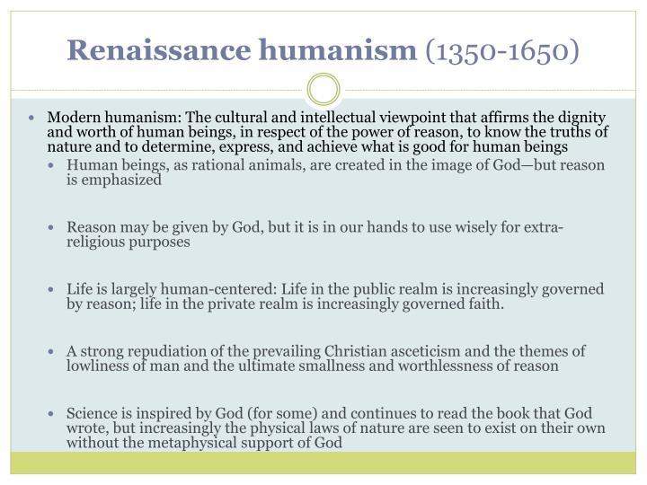 Renaissance humanism 1350 16501