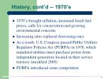 history cont d 1970 s