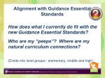 alignment with guidance essential standards